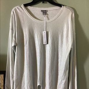 NWT Chelsea 28 | Tie front shimmery blouse.